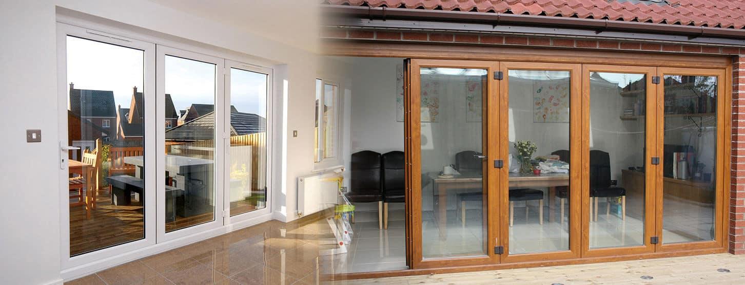 Marvellous Natural Pine Effect Folding Door Contemporary - Plan 3D ...