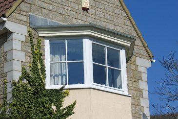 uPVC white bay window