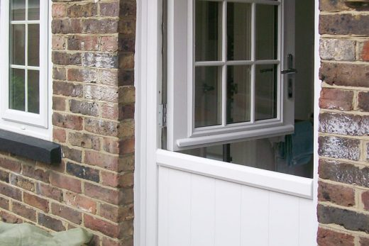 White composite stable door