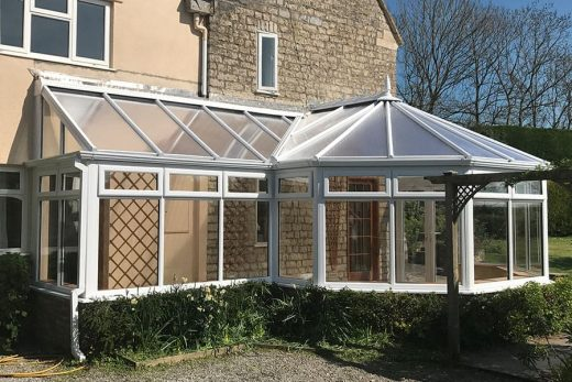 Bespoke P Shaped uPVC conservatory