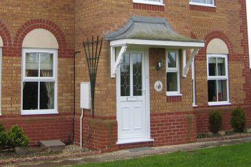 White uPVC entrance door and windows