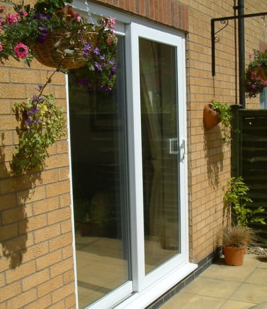 White uPVC sliding patio door in Backwell