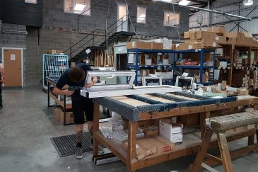 Majestic Designs manufacturing a window frame