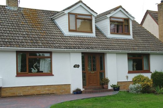 Golden oak effect uPVC casement windows