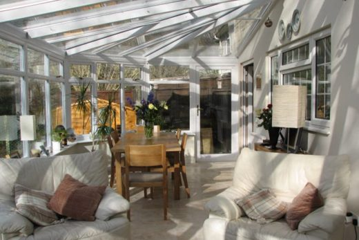 White uPVC victorian conservatory interior