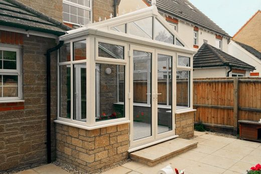 Cream uPVC gable conservatory