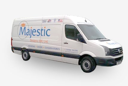 Majestic Designs installer van