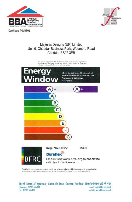 Majestic Designs energy rating