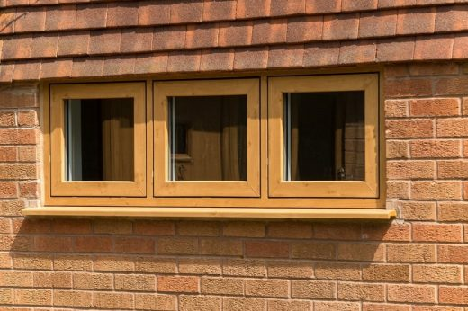 Oak effect flush sash casement windows