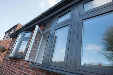 Flush casement window black