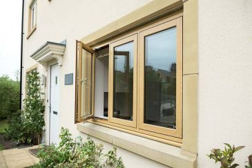 Flush casement window irish oak