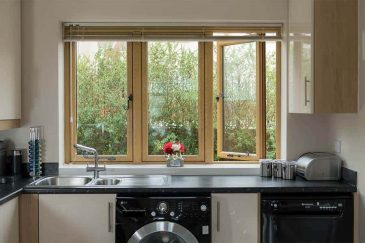 Flush casement window irish oak interior