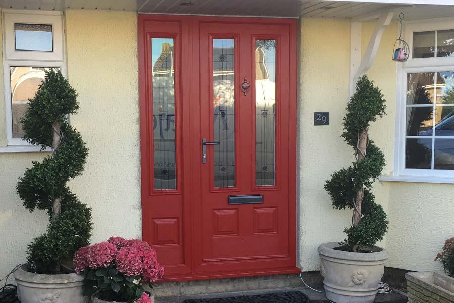 ... Red composite entrance door ... & Composite Doors in Cheddar u0026 Somerset | Majestic Designs