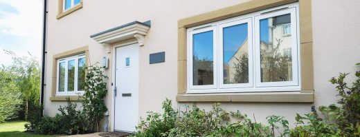 Upvc white flush casement windows