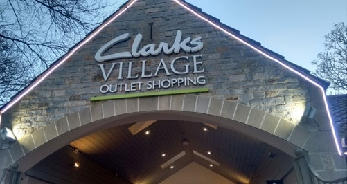 Clarks village shopping outlet