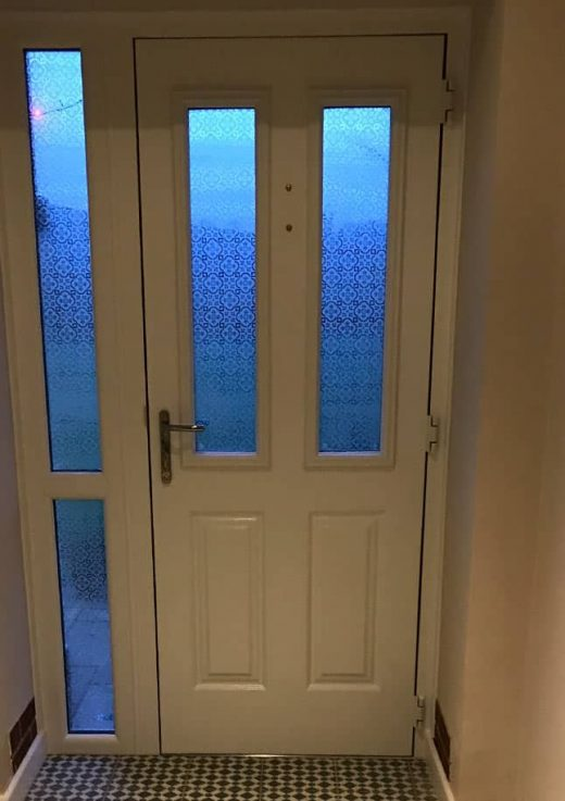 Oak effect composite door interior view