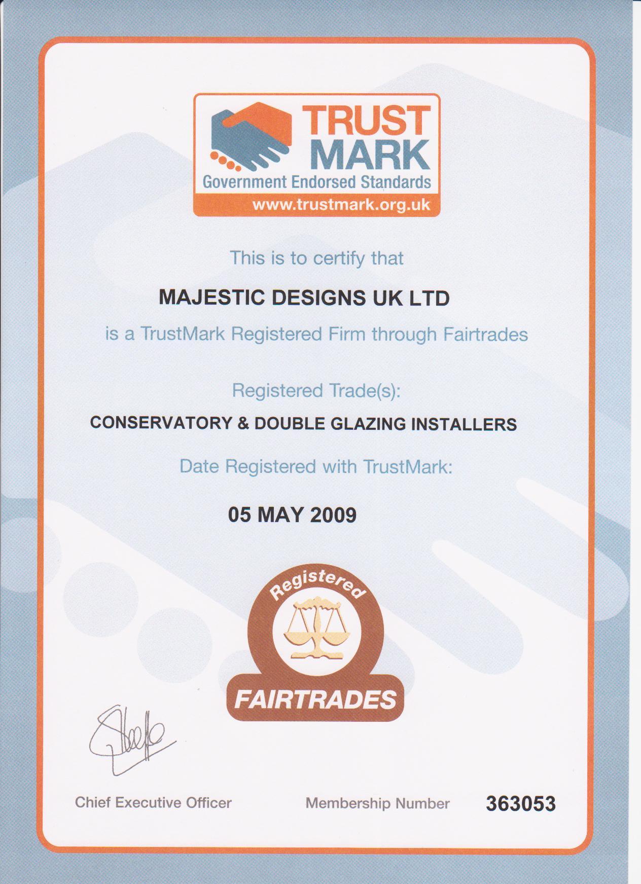 Trustmark Certificate
