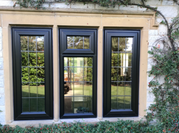 Schwarzbraun Black Casement uPVC Windows
