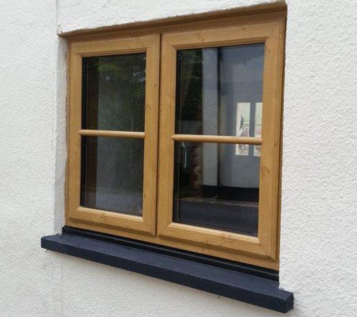 Oak Effect Window
