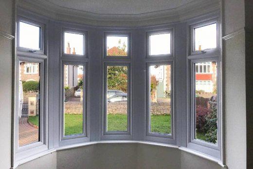 White UPVC window Interior